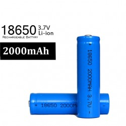 3.7Volt 2000mAh 18650 Li-ion Rechargable Battery - 1 Piece