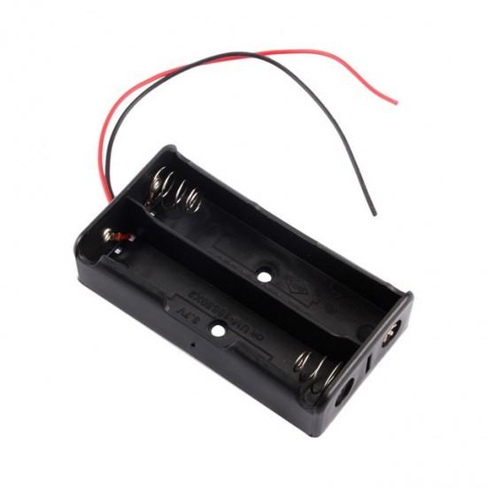 18650 Battery Case Storage Box Case Plastic Holder for 2 x 18650 Battery