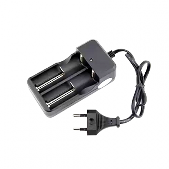 3.7V Dual Battery Charger Li-ion EU/Indian 18650/16340/26650/14500 wired