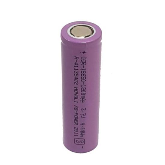 3.7Volt 1200mAh 18650 Li-ion Rechargable Battery (Flat Top) - 1Piece