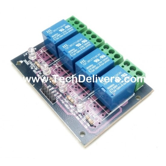 Four Channel 4 Ch 12v Relay Board Module For Raspberry Pi Arduino AVR 8051
