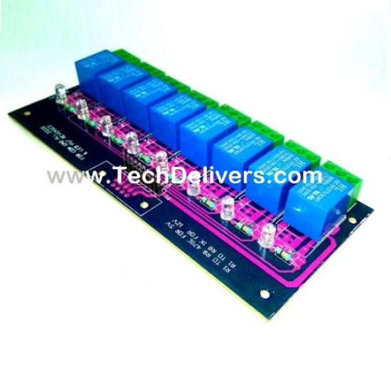 Eight Channel 12v Relay Board Module For Raspberry Pi Arduino AVR 8051