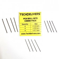 Drill Bits Combo Pack of 12 Pieces PCB Micro 0.7 - 0.8 - 1.0 mm