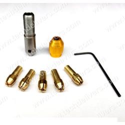 Small Electric Drill Collet Micro Twist Drill Chuck Set 0.5-3mm