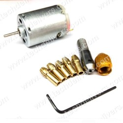 Small Electric Drill Collet Micro Twist Drill Chuck Set 0.5-3mm with MOTOR