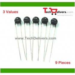 Thermistor Assorted Kit 3-Values 9-Pieces