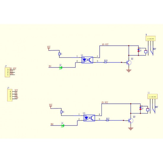 2 Channel 5V Relay Module with Optocoupler