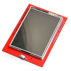 "2.4"" TFT LCD Shield + Touch Panel Display with TF w/TF Reader for Arduino UNO R3"