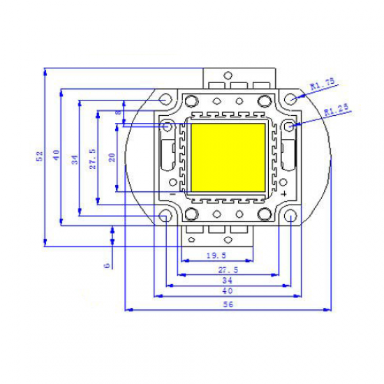20Watt DC 12V White High Power LED SMD Bead Chips
