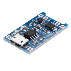 Micro USB 18650 Lithium Battery Charging Board Charger Module+Protection Dual Functions
