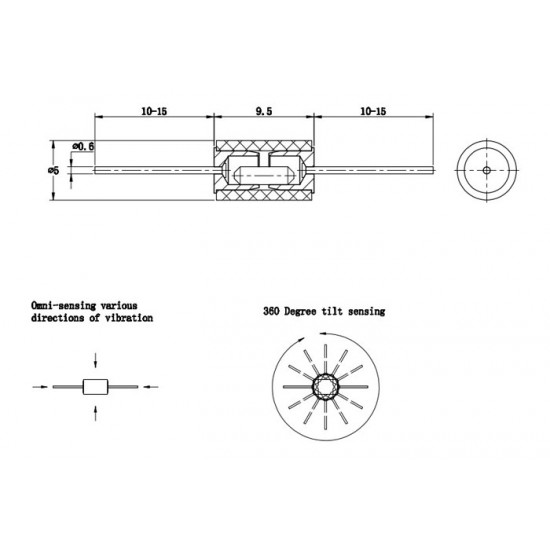 Tilt Switch-Mercury Switch-Angle Switch-Vibration Switch SW-200D SW-200D Unidirectional Trigger
