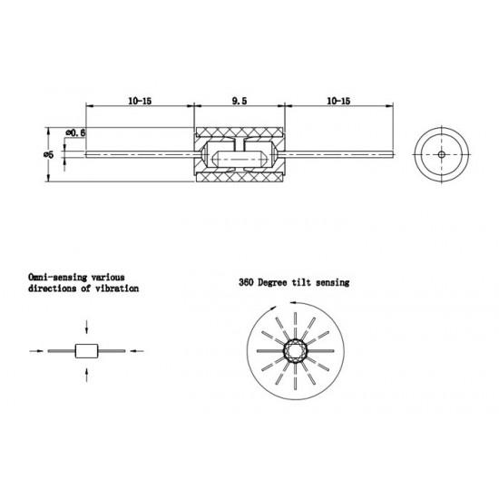 Vibration Sensor-Vibration switch HDX-2 SW-420 Normally Closed Highly Sensitive