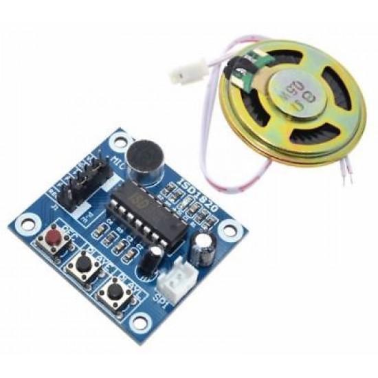 ISD1820 Voice Recorder Module With Mic Sound Audio Loudspeaker