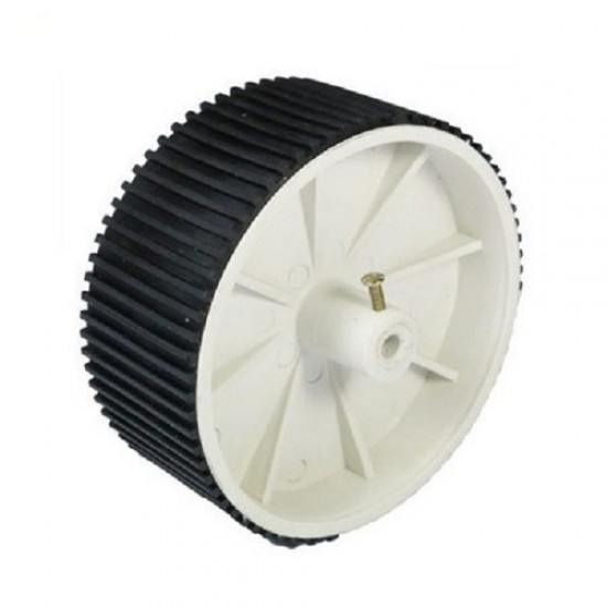 Wheel Extra Large grip for DC geared motor (6mm shaft) -Dia 100mm, width 40mm