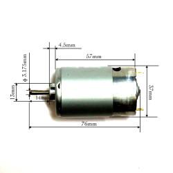 555C Motor 5800 RPM 12V DC to 24V DC - 2.5inch 555
