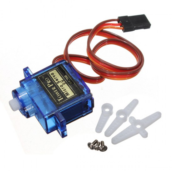 TowerPro SG90 9G micro servo motor 3 fittings