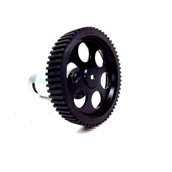 Large Wheel for DC Geared motor (6mm shaft) -Dia 100mm, width 20mm